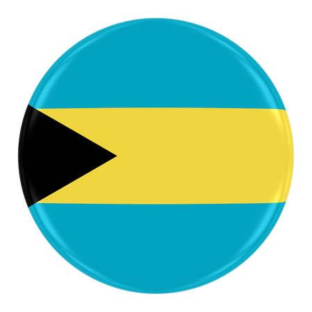 bahamian: Bahamian Flag Badge - Flag of The Bahamas Button Isolated on White Stock Photo