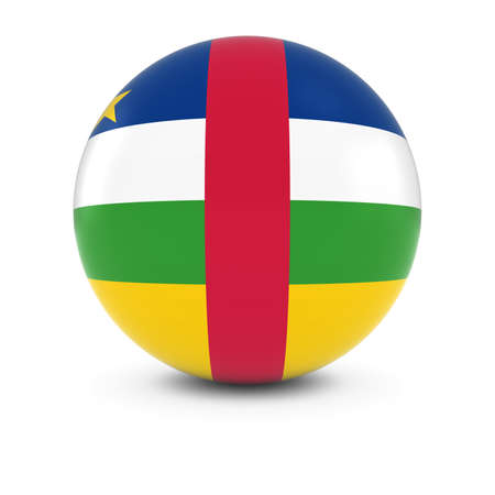 central african republic: Central African Flag Ball - Flag of the Central African Republic on Isolated Sphere