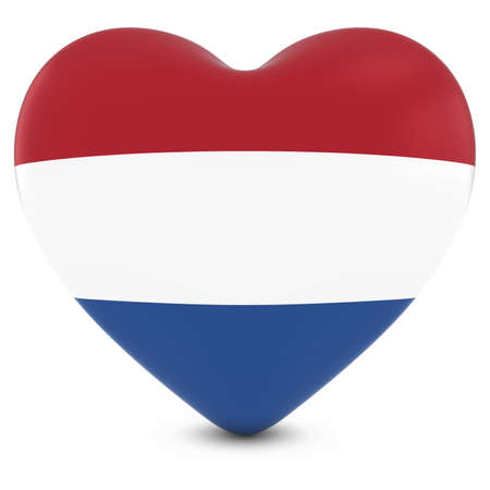 dutch flag: Love Holland Concept Image - Heart textured with Dutch Flag Stock Photo