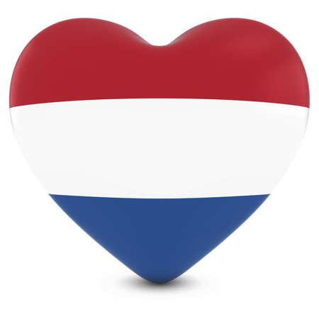 dutch flag: Love Holland Concept Image - Heart textured with Dutch Flag Stock Photo