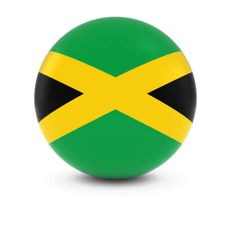 jamaican flag: Jamaican Flag Ball - Flag of Jamaica on Isolated Sphere