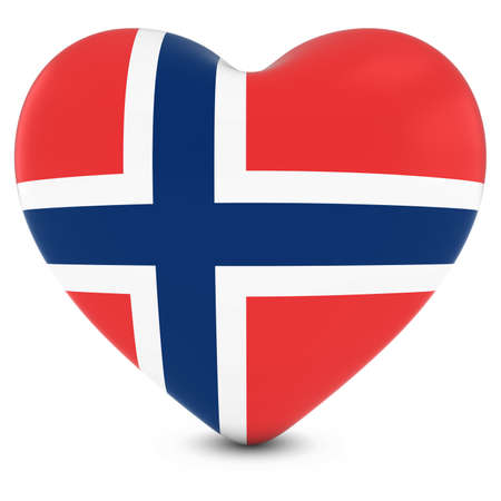 norwegian flag: Love Norway Concept Image - Heart textured with Norwegian Flag
