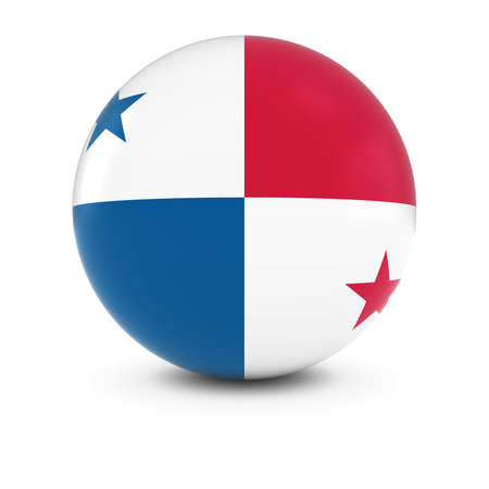 three dimensional shape: Panamanian Flag Ball - Flag of Panama on Isolated Sphere