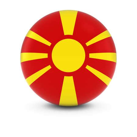 macedonian flag: Macedonian Flag Ball - Flag of Macedonia on Isolated Sphere