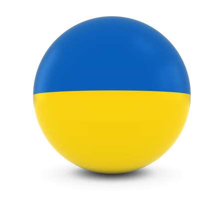 ukrainian flag: Ukrainian Flag Ball - Flag of Ukraine on Isolated Sphere