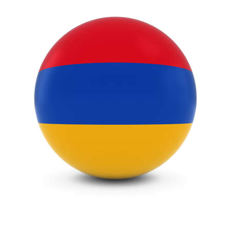 armenian: Armenian Flag Ball - Flag of Armenia on Isolated Sphere