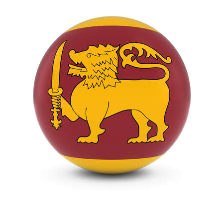 sri lankan flag: Sri Lankan Flag Ball - Flag of Sri Lanka on Isolated Sphere