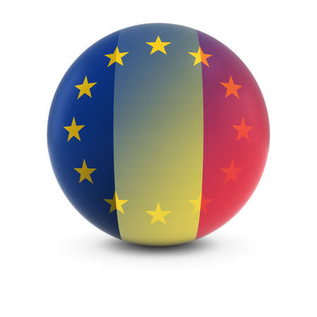 fading: Belgian and European Flag Ball - Fading Flags of Belgium and the EU