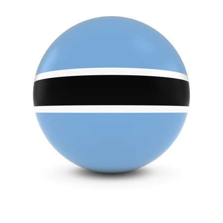 botswanan: Botswanan Flag Ball - Flag of Botswana on Isolated Sphere