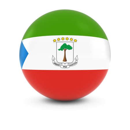 equatorial: Equatorial Guinean Flag Ball - Flag of Equatorial Guinea on Isolated Sphere