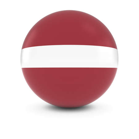 latvia: Latvian Flag Ball - Flag of Latvia on Isolated Sphere