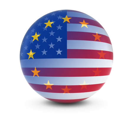 fading: American and European Flag Ball - Fading Flags of the USA and the EU