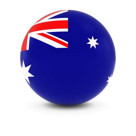 Australian Flag Ball - Flag of Australia on Isolated Sphere Stock Photo