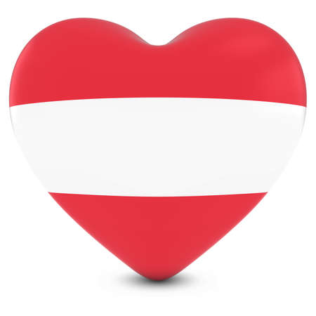 austrian: Love Austria Concept Image - Heart textured with Austrian Flag
