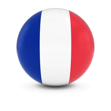 french flag: French Flag Ball - Flag of France on Isolated Sphere