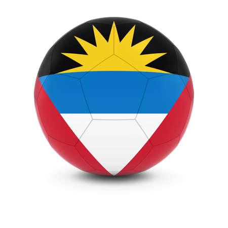 antigua barbuda: Antigua and Barbuda Football - Antiguan and Barbudan Flag on Soccer Ball