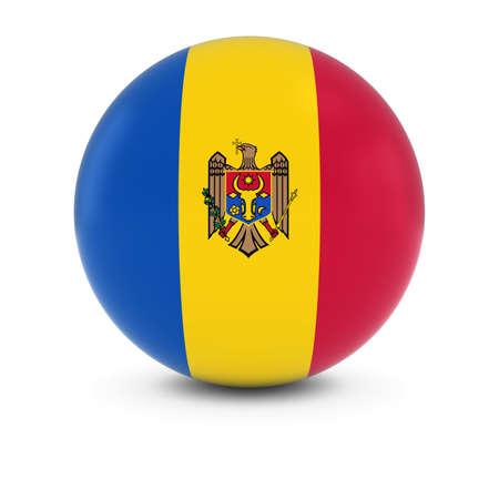 moldovan: Moldovan Flag Ball - Flag of Moldova on Isolated Sphere