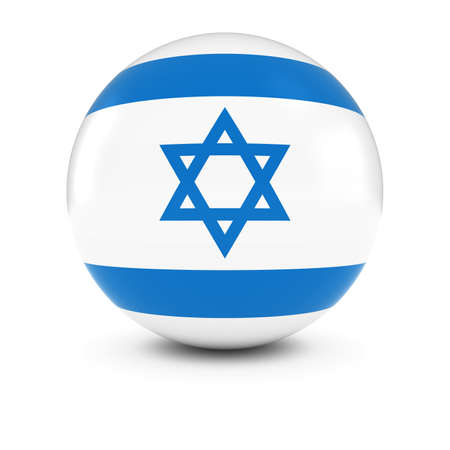 israeli: Israeli Flag Ball - Flag of Israel on Isolated Sphere