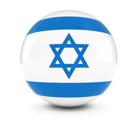 israeli flag: Israeli Flag Ball - Flag of Israel on Isolated Sphere