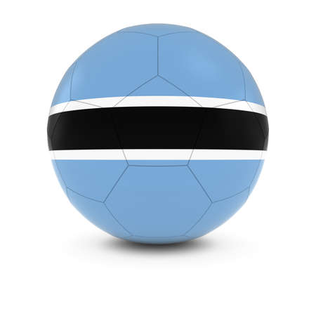 botswanan: Botswana Football - Botswanan Flag on Soccer Ball