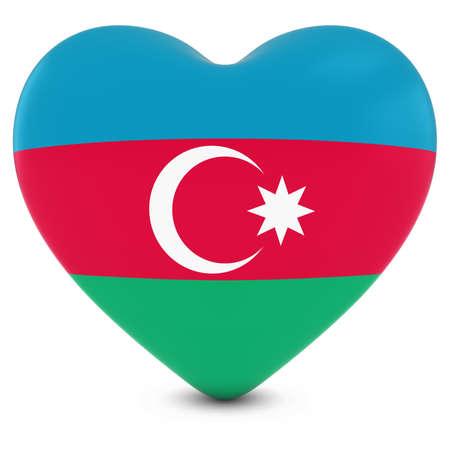 azerbaijani: Love Azerbaijan Concept Image - Heart textured with Azerbaijani Flag
