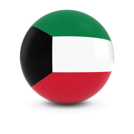 Kuwaiti Flag Ball - Flag of Kuwait on Isolated Sphere Stock Photo - 55629023