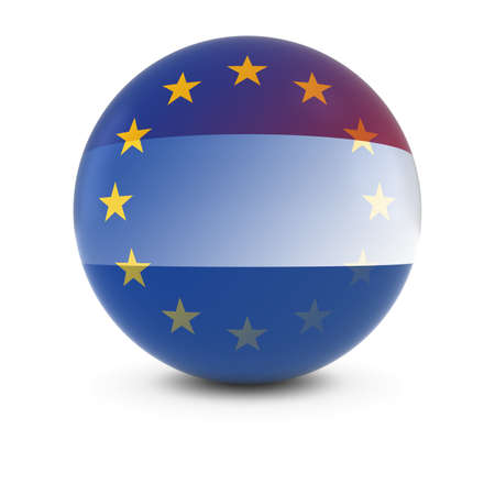 fading: Dutch and European Flag Ball - Fading Flags of the Netherlands and the EU
