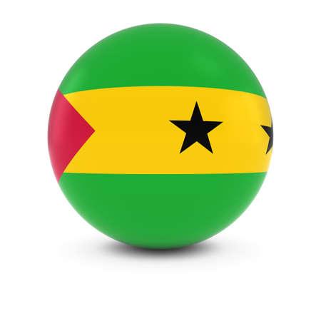 principe: Sao Tomean Flag Ball - Flag of Sao Tome and Principe on Isolated Sphere