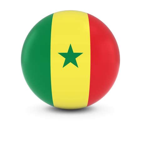 senegalese: Senegalese Flag Ball - Flag of Senegal on Isolated Sphere
