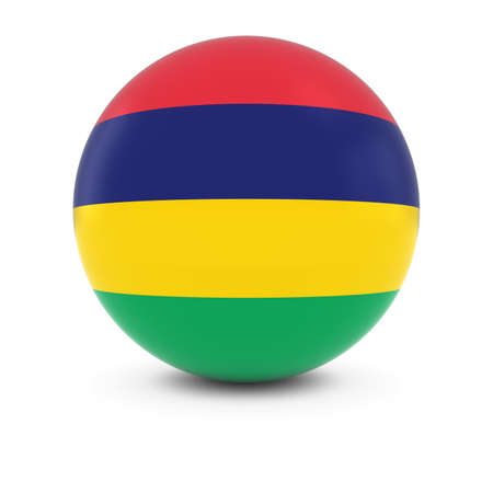three dimensional shape: Mauritian Flag Ball - Flag of Mauritius on Isolated Sphere