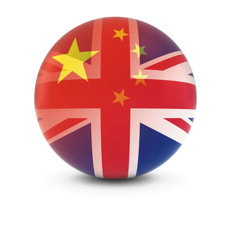 fading: Chinese and British Flag Ball - Fading Flags of China and the UK