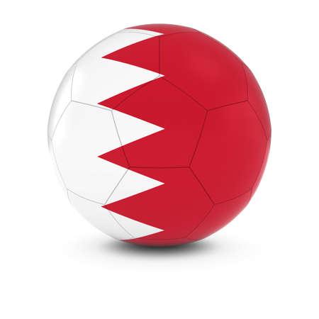 bahrain: Bahrain Football - Bahraini Flag on Soccer Ball