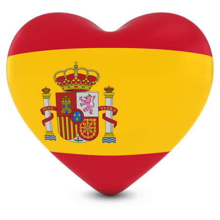 spanish flag: Love Spain Concept Image - Heart textured with Spanish Flag