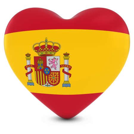 spanish flag: Love Spain Concept Image - Heart textured with Spanish Flag