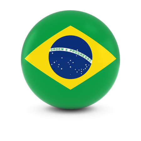 brazilian flag: Brazilian Flag Ball - Flag of Brazil on Isolated Sphere