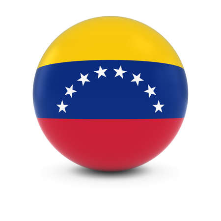 venezuelan: Venezuelan Flag Ball - Flag of Venezuela on Isolated Sphere