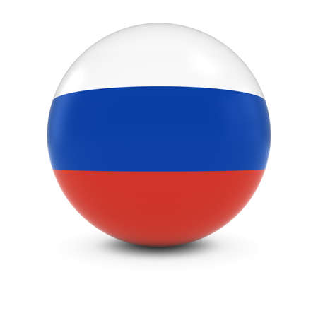 russian flag: Russian Flag Ball - Flag of Russia on Isolated Sphere