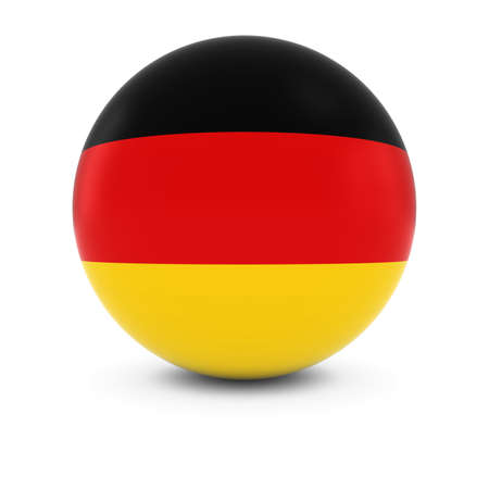 three dimensional   shape: German Flag Ball - Flag of Germany on Isolated Sphere