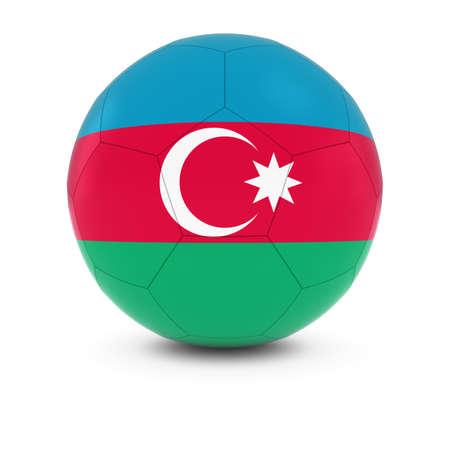 azerbaijani: Azerbaijan Football - Azerbaijani Flag on Soccer Ball