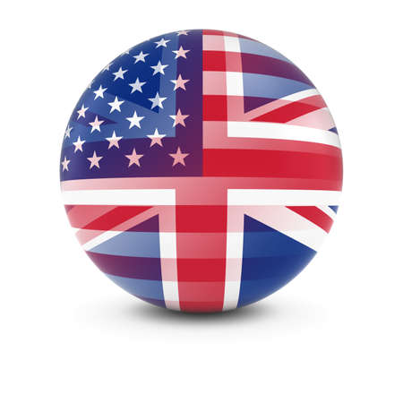 fading: American and British Flag Ball - Fading Flags of the USA and the UK