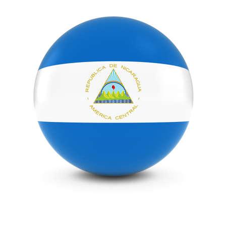nicaraguan: Nicaraguan Flag Ball - Flag of Nicaragua on Isolated Sphere