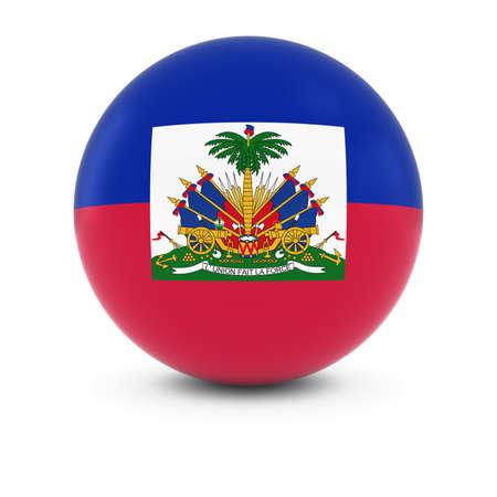 haitian: Haitian Flag Ball - Flag of Haiti on Isolated Sphere Stock Photo