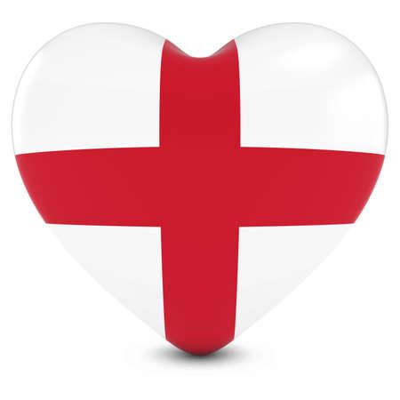 drapeau anglais: Amour Angleterre Concept image - Coeur texturée avec le drapeau anglais