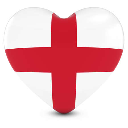 bandera inglesa: Love England Concept Image - Heart textured with English Flag Foto de archivo