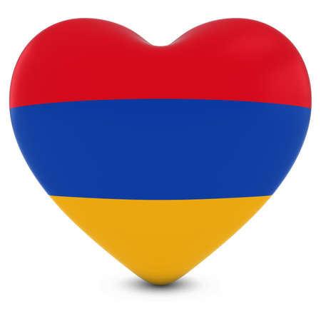 armenian: Love Armenia Concept Image - Heart textured with Armenian Flag