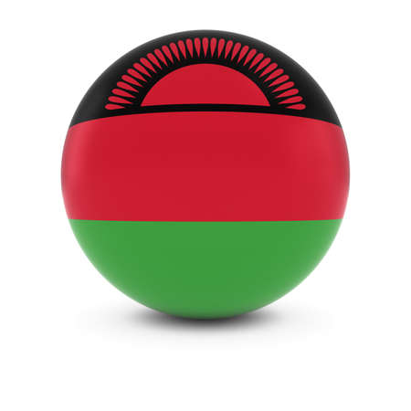 malawian flag: Malawian Flag Ball - Flag of Malawi on Isolated Sphere