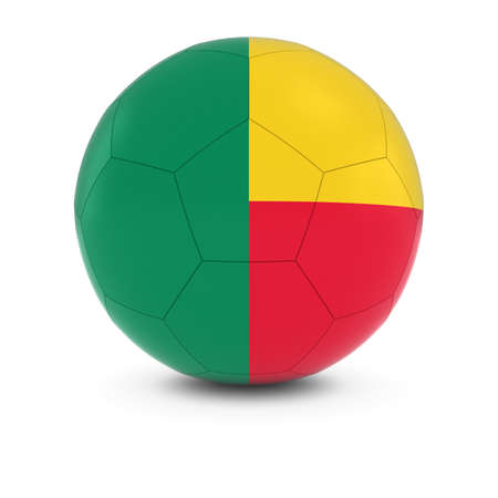 benin: Benin Football - Beninese Flag on Soccer Ball