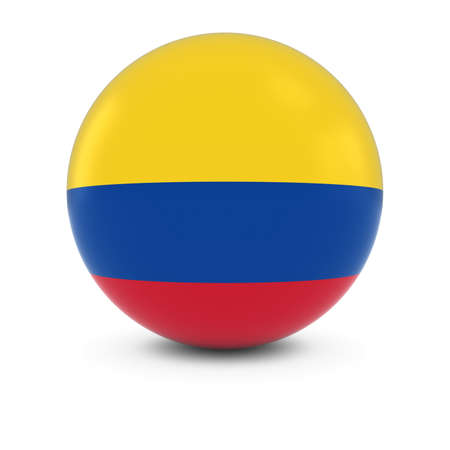 Colombian Flag Ball - Flag of Colombia on Isolated Sphere