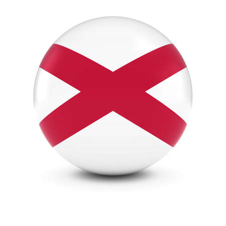 northern ireland: Northern Irish Flag Ball - Flag of Northern Ireland on Isolated Sphere Stock Photo
