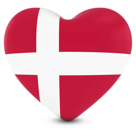 danish flag: Love Denmark Concept Image - Heart textured with Danish Flag